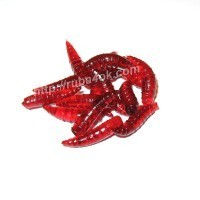 Имитация опарыша для попла-поппера Красная 18мм (5шт)