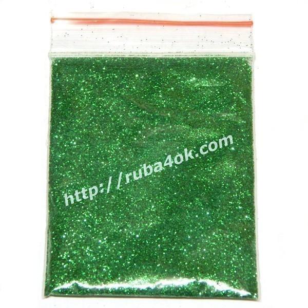 Блестки голографические Зеленые 0.2мм