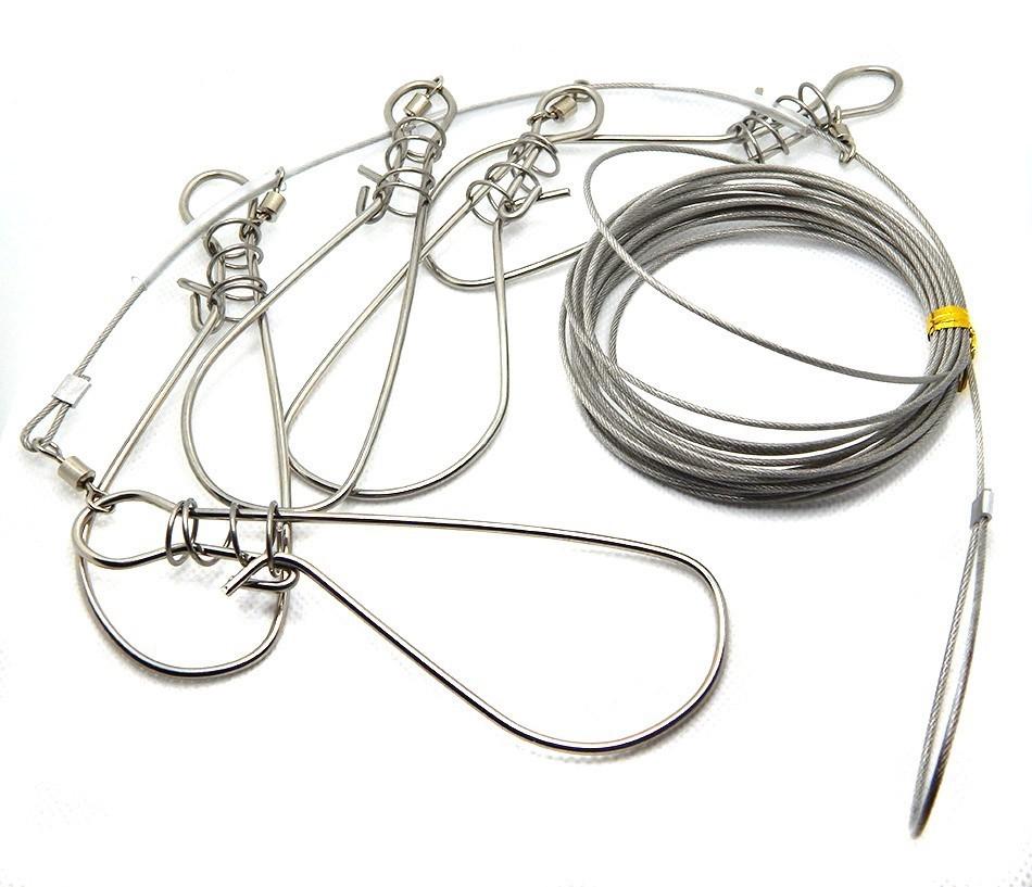 Кукан рыболовный металлический 5-местный 4.5м