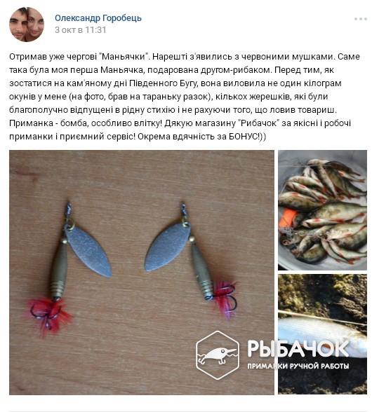 Отзыв Горобець Олександр