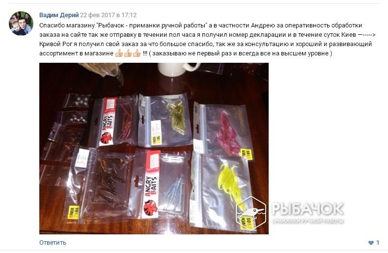 Отзыв Вадима Дерия