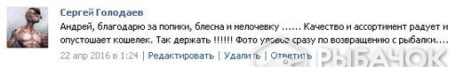 Отзыв Сергей Голодаева
