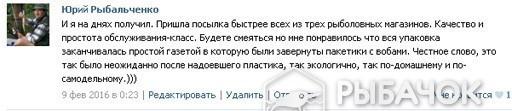 Отзыв Юрия Рыбальченко